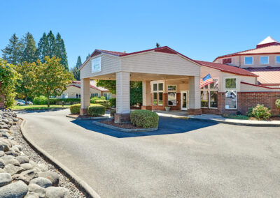 Senior living retirement community in Sublimity Oregon Elliott-Entrance