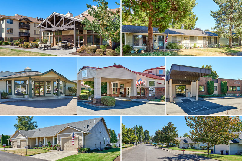 Senior community complete with Independent Living, Assisted Living, Memory Care and Rehabilitation Marion County, Oregon